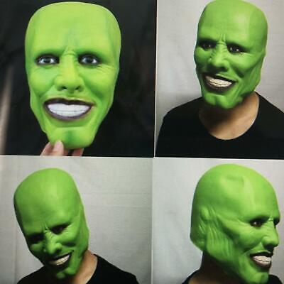 'The Mask' Green Latex Masks Jim Carrey Costume Fancy Dress Halloween Cosplay US