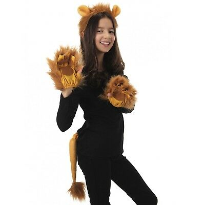 Adult or Child Lion Ears Tail Costume Accessory Kit King Wizard Of Oz Halloween - Lion Tail Costume Accessory
