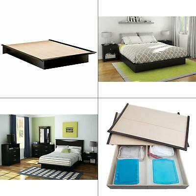 double platform bed frame storage