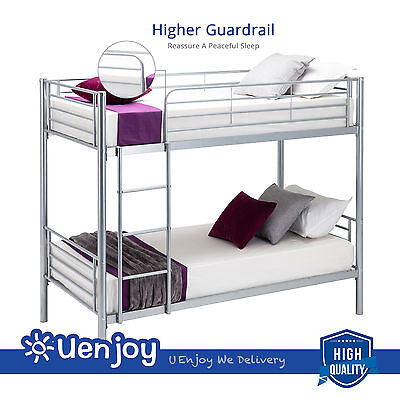 Twin over Metal Bunk Beds Frame Ladder for Kids/ Adult Dorm Bedroom Furniture