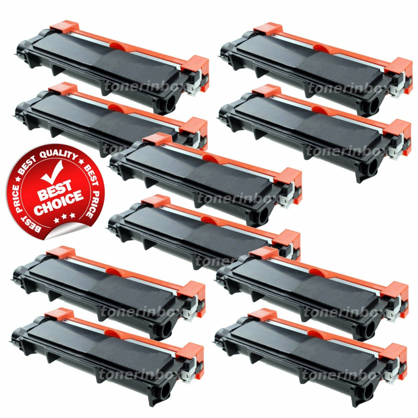 10 PK High-Yield TN660 Toner Compatible TN630 For Brother