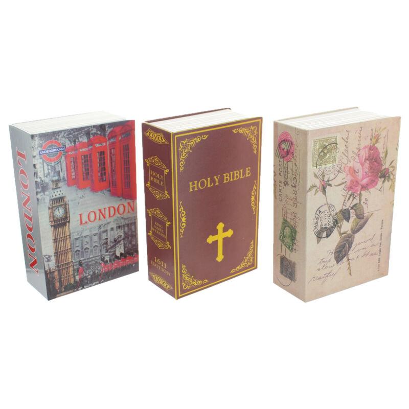 Hidden Book Safe Lock Secret Security Money Hollow Book Wall Hide Bible London