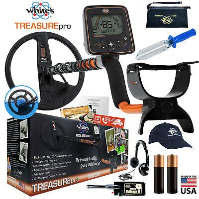 Whites Treasurepro Metal Detector Holiday Bundle W Bullseye Ii Accessories