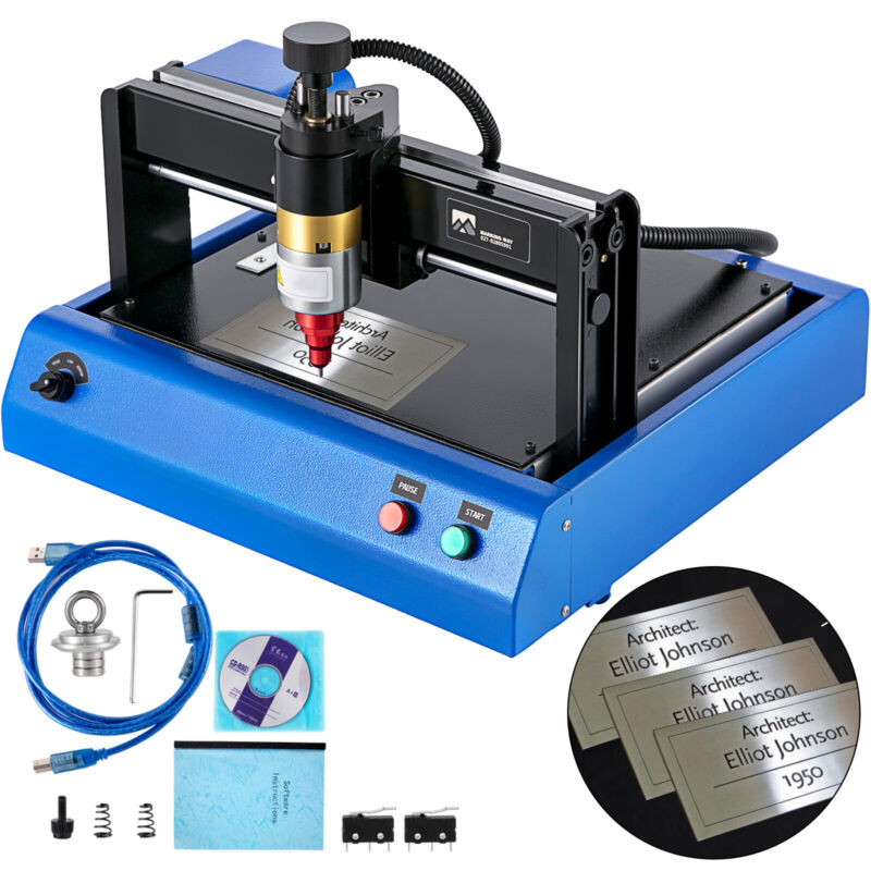 Electric Metal Marking Engraving Machine 200*150mm Nameplate Dog Tag Steel Plate