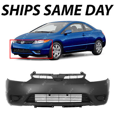 NEW Primered -- Front Bumper Cover Fascia for 2006 2007 2008 Honda Civic - 2006 2007 Honda Civic Coupe