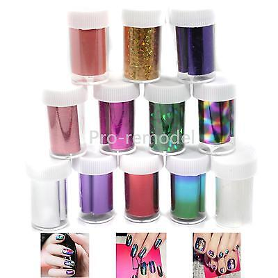12 Color Galaxy Nail Art Tips Design Transfer Foils Sticker Decoration Kit Set on Rummage