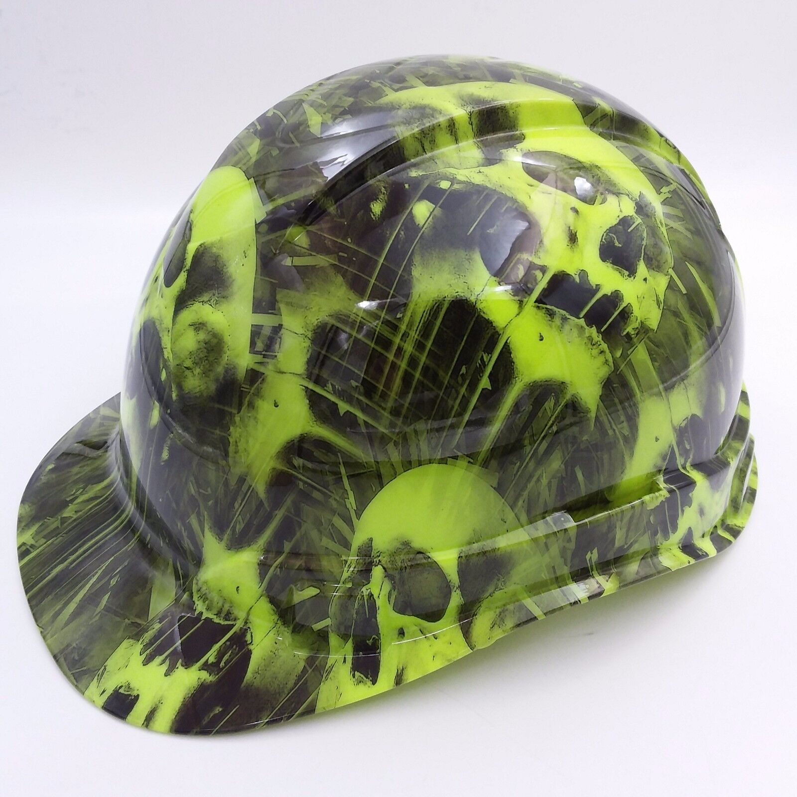 Hard Hat CAP STYLE custom hydro dipped , OSHA approved MELTING SKULLS NEW 1