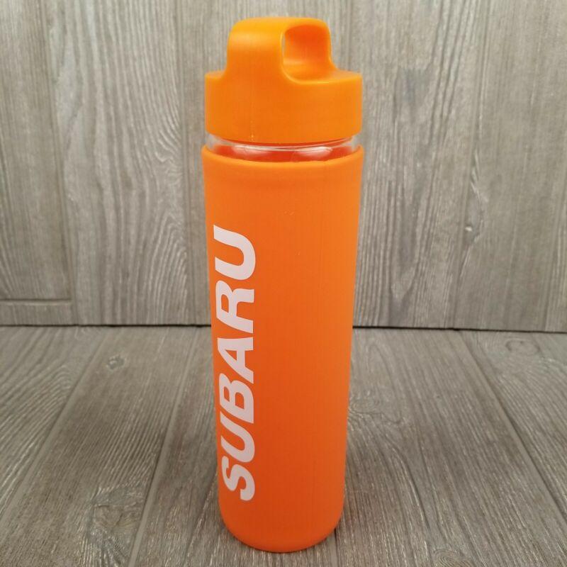 Orange Subaru Water Bottle With Screw Off Lid & Handle