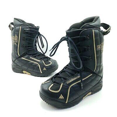 K2 Range Snowboarding Boots Black Leather Speed Lace 3D EZ Fit Liner Mens Size 7