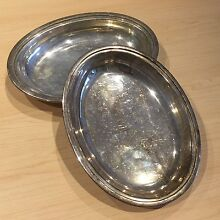 Silver-plated serving dish 2pc set Hope Valley Tea Tree Gully Area Preview