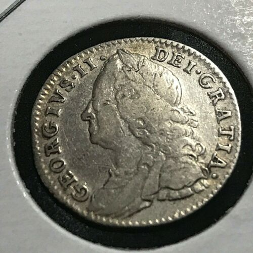 1758 GREAT BRITAIN SILVER SIX PENCE SCARCE COIN