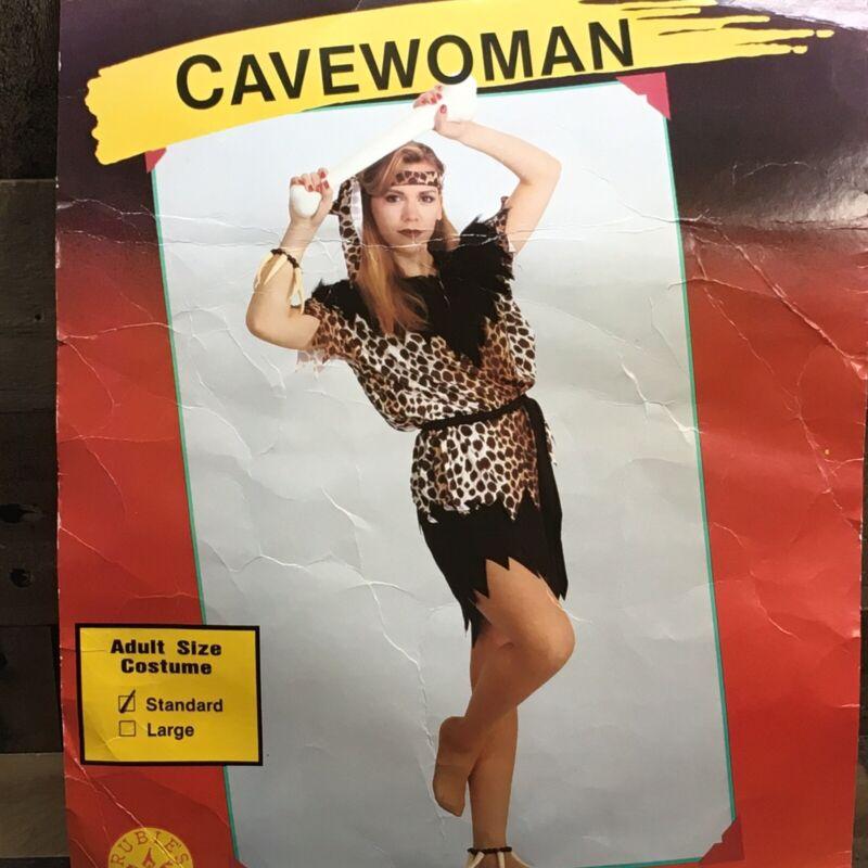 Vintage Rubies Cavewoman Adult  Halloween Costume *Skirt, Top, & Headband* USA *