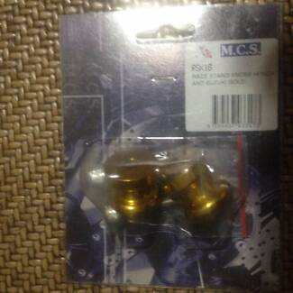 Race Stand Knobs Honda and Suzuki Gold Colour MCS Brand RSK1G 8mm