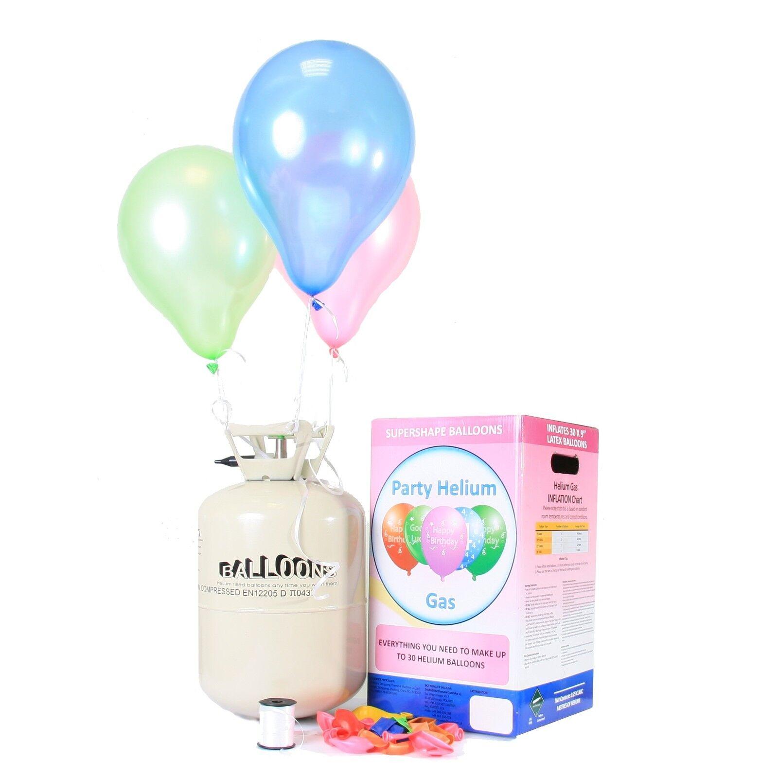 helium ballongas 30 50 luftballons einweg heliumflasche folienballons ballons. Black Bedroom Furniture Sets. Home Design Ideas