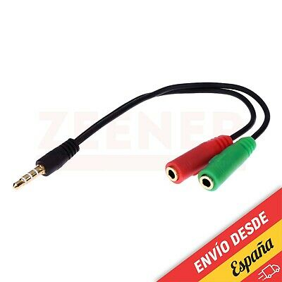 Cable adaptador de audio y micro auriculares para PS4 XBOX PC jack...