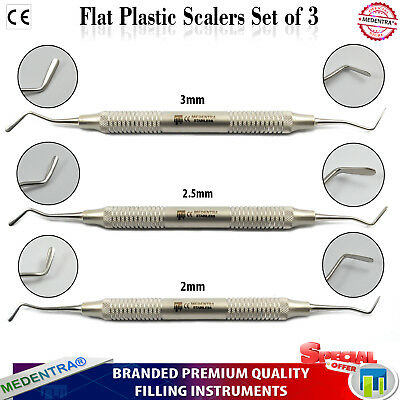 3pcs Composite Dental Plastic Filling Instrument Scaler Spatula Heidman Medentra