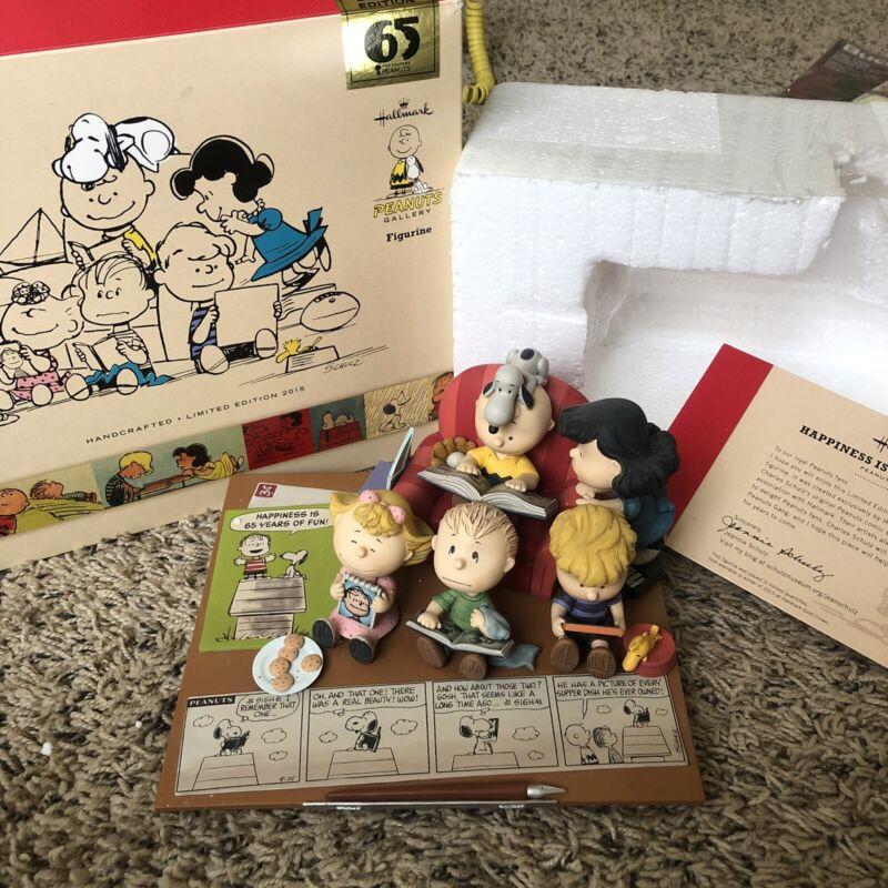 Hallmark Peanuts Gallery Figurine 65 Years Of Fun Limited Edition Snoopy 2015