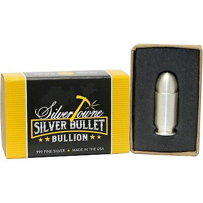 1oz Silver Bullet .45 Caliber by SilverTowne Mint
