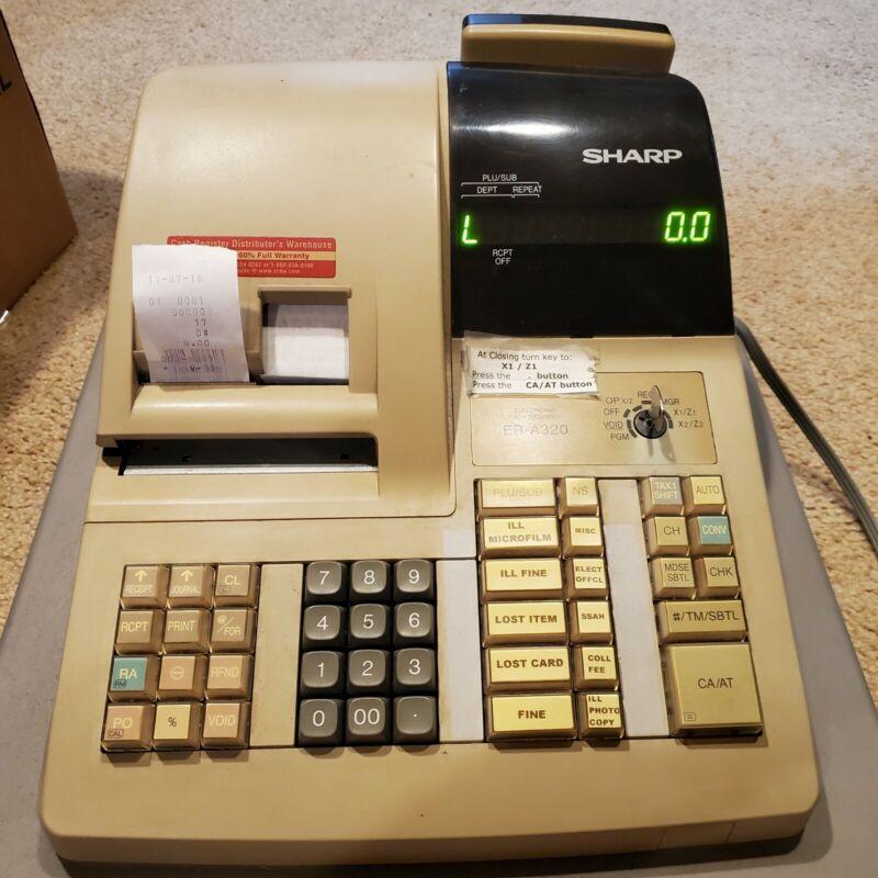 Sharp Electronic Cash Register ER-A320 w/ Mode & Drawer Keys READ