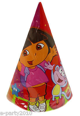 DORA the Explorer STAR CATCHER CONE HATS (8) ~ Birthday Party Supplies Favors ()