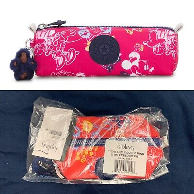 NWT Kipling Disney Minnie Mouse Freedom Pencil Case Doodle Pink Retail $39
