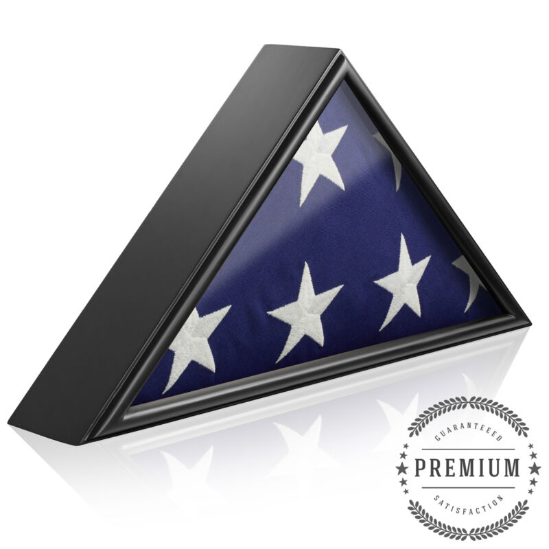 Memorial Funeral Flag Display Case for 5