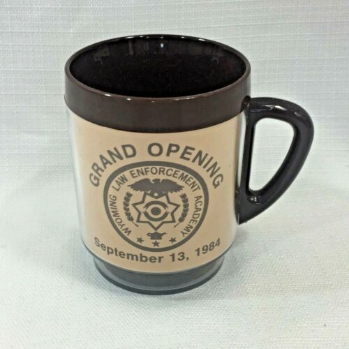 Vintage 1984 Wyoming Police Academy Grand Opening & Convention Coffee Cup