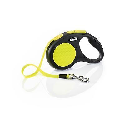 (Flexi New Neon Retractable 16' Dog Leash Tape, Small, Black/Neon)