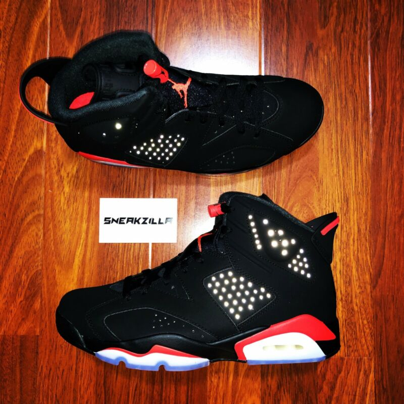 cd25d68d0b47f Nike Air Jordan Retro VI 6 Black Infrared 2019 OG 384664-060 Men 7.5 ...