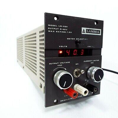 Lambda Lq-522 Regulated And Adjustable Power Supply 0-40v 1.8a