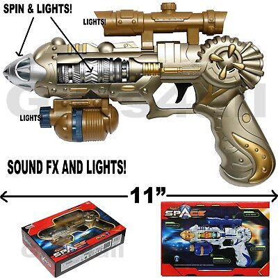 Light Up Space Gun (COLOSSUS LIGHT-UP SPACE GUN TOY NEW IN WINDOW BOX FX SOUNDS AND)