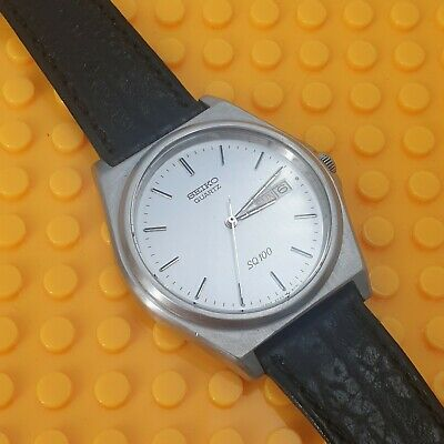 SEIKO VINTAGE GENTS SQ100 5Y23-8A50 STEEL STRAP WATCH STKYL61