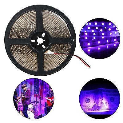 3528 UV Ultraviolet Purple Waterproof 60LED/M Strip Lamp Bla