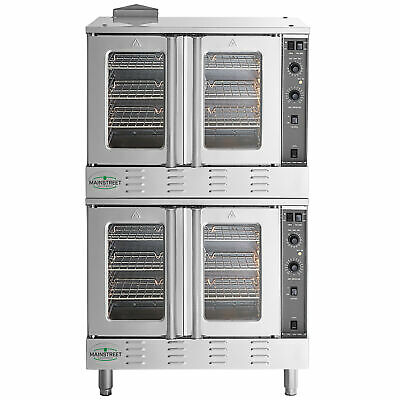 New Double Deck Natural Gas Full Size Commercial Convection Oven Legs 120v