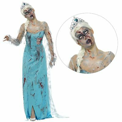 Adult Ladies Froze to Death Ice Queen Frozen Zombie Fairytale Halloween Costume