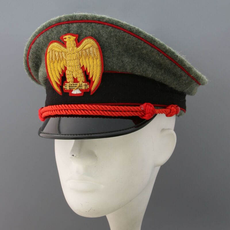 replica rare ww2  italia  per berretto da MVSN general visor hat