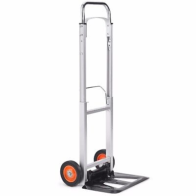 VonHaus 90kg Folding Hand Sack Truck Lightweight Aluminium Alloy Heavy Duty Cart