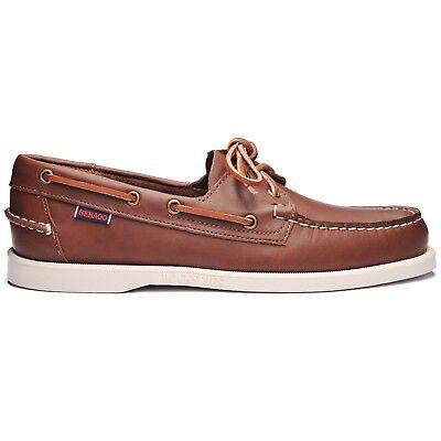 Sebago Docksides Portland Brown 900 Boat Shoe Men's sizes 7-13 (Portland Men)