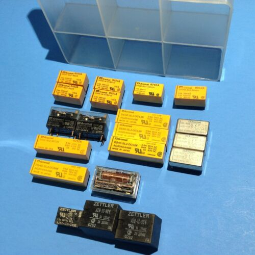 US JAPAN 20 mini Relay kit AROMAT DS2E 4E SL2 Latching ZELLTER 1.5 5 6 12 24 48V