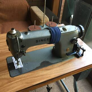 Singer 291U3 HD Industrial Sewing Machine & Cabinet, 1/2 HP Motor
