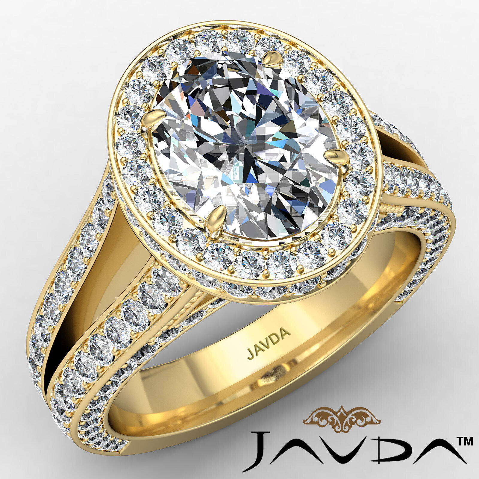 Halo Oval Diamond Engagement Ring GIA Certified F Color & SI1 clarity 2.31 ctw 1
