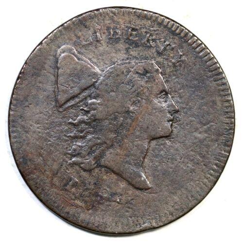 1795 C-6a R-2 Double Struck Liberty Cap Half Cent Coin 1/2c