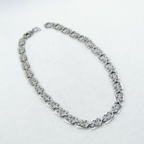 """Beautiful Danecraft Sterling Silver925 Rectangle Linked Necklace Chain 13"""" K1801"""