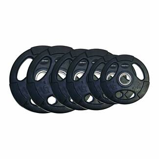 100KG COMMERCIAL OLY RUBBER PLATES PACKAGE + FREE QUICK LOCKS