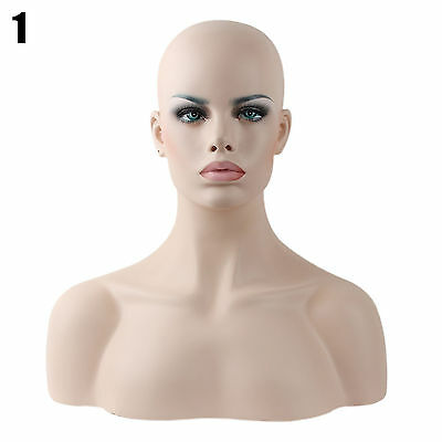 Realistic Mannequin Head Fiberglass Hat Glasses Mold Stand Torson Wig African 1