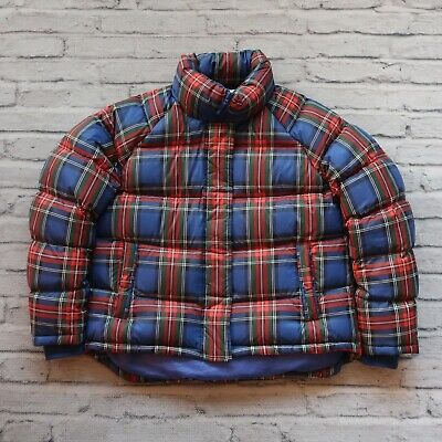 JW Anderson x Uniqlo Puffer Down Jacket Womens Size L Plaid