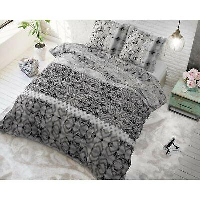 Bettwäsche Set Baumwollemischung 2 Teile Bettgarnitur 140x220cm Grau