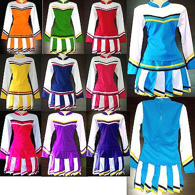 Damen Cheerleader-Cheerleading Kostüm/ Kleid Fasching/Cosplay Gr. XS, S, M, (Thailand Kostüme Kleider)