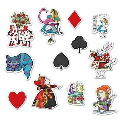 Photo Booth Cutouts (Alice In Wonderland Cutout 12 Cardboard Party Decoration Photo Booth Props)
