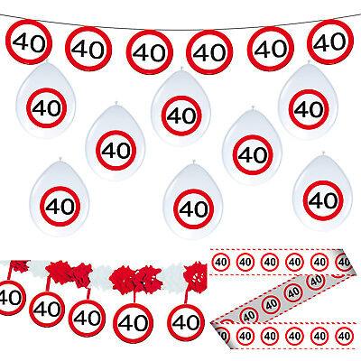 tag 40 Party Dekoration Verkehrsschild Girlanden Luftballons (40-party Dekorationen)